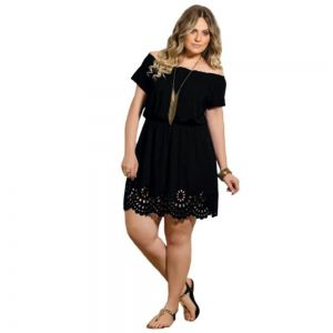 Vestido Ciganinha Plus Size Vazado Feminino