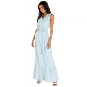 Vestido Jeans Longo Plus Size Feminino