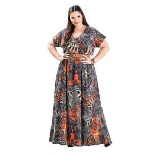 Vestido Longo Plus Size feminino Cashmere Plus Size