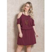 992bb2b15 Vestido Chiffon Rosa Babado Plus Size - Aproveite Paguem em 3x S ...