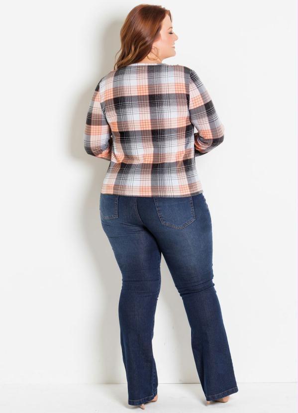 cd9aabc25965 Camisa Feminina Xadrez Plus Size G GG XXG Country Blusa Plus Size ...