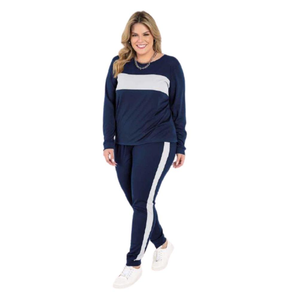 Conjunto Frio Feminino Jogger Plus Size Blogueira Inverno