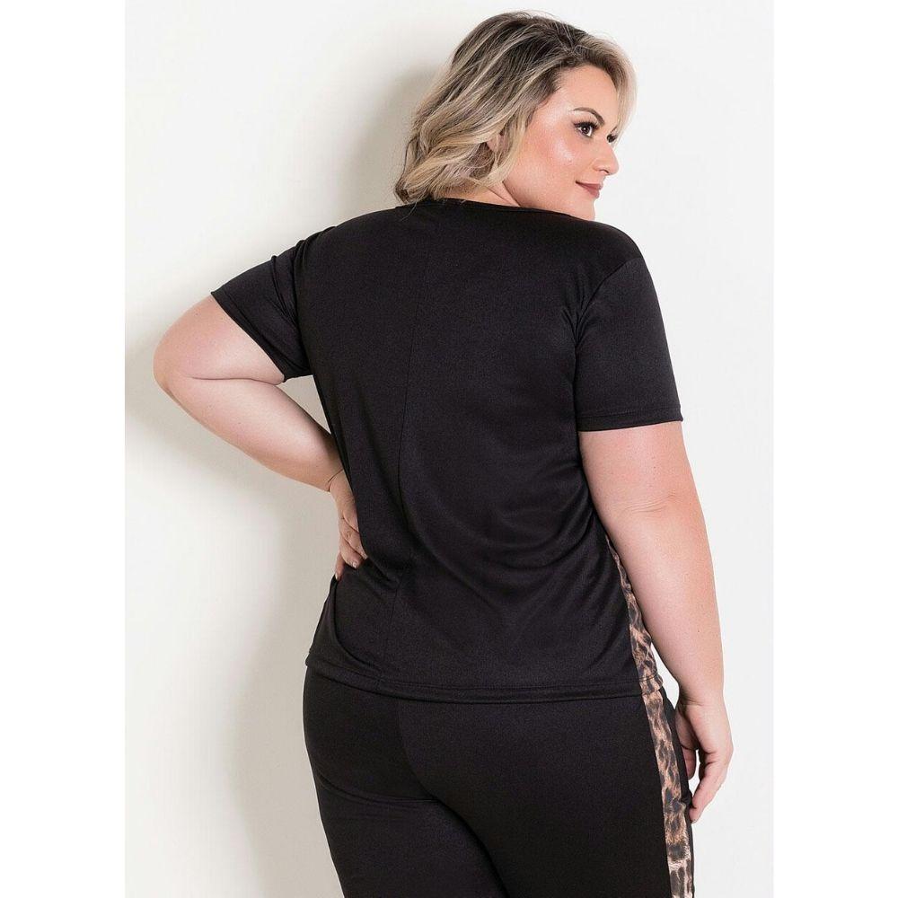 Conjunto onça blusa e calça plus size