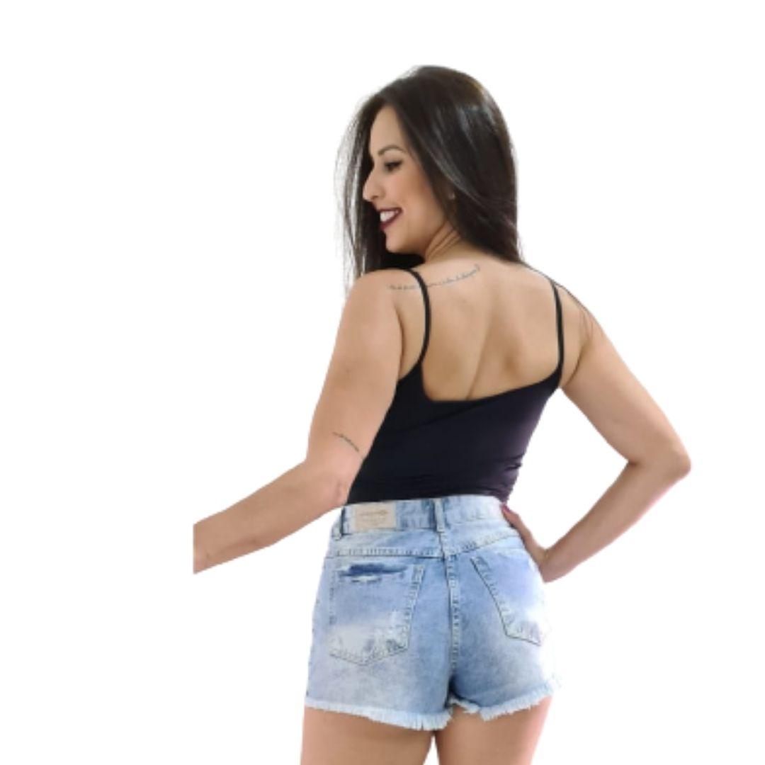 Shorts Curto Jeans Feminino Moda Feminina