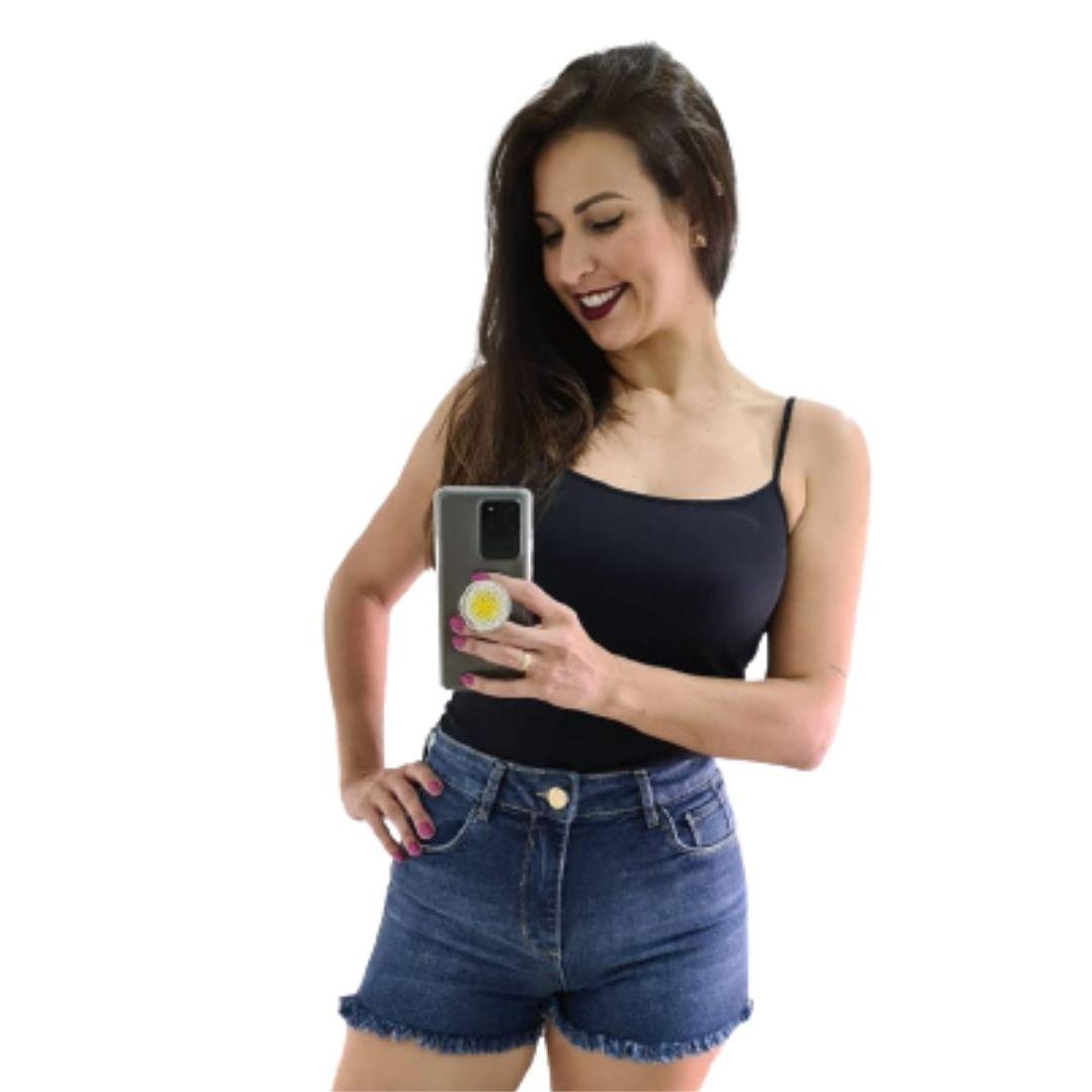 Shorts Jeans Feminino Modinha Tendência Feminina