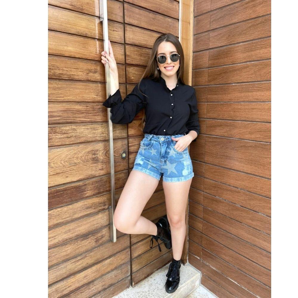 Shorts Jeans Roupas femininas Curto Modinha