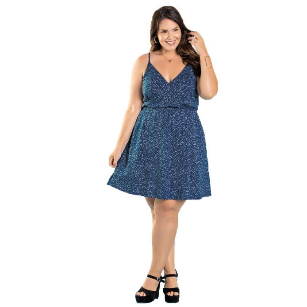 Vestido Feminino Transpassado com Alças Plus Size