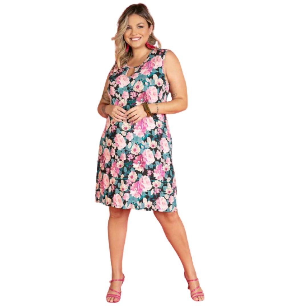 Vestido Tamanhos Grandes Plus Size Roupas Femininas