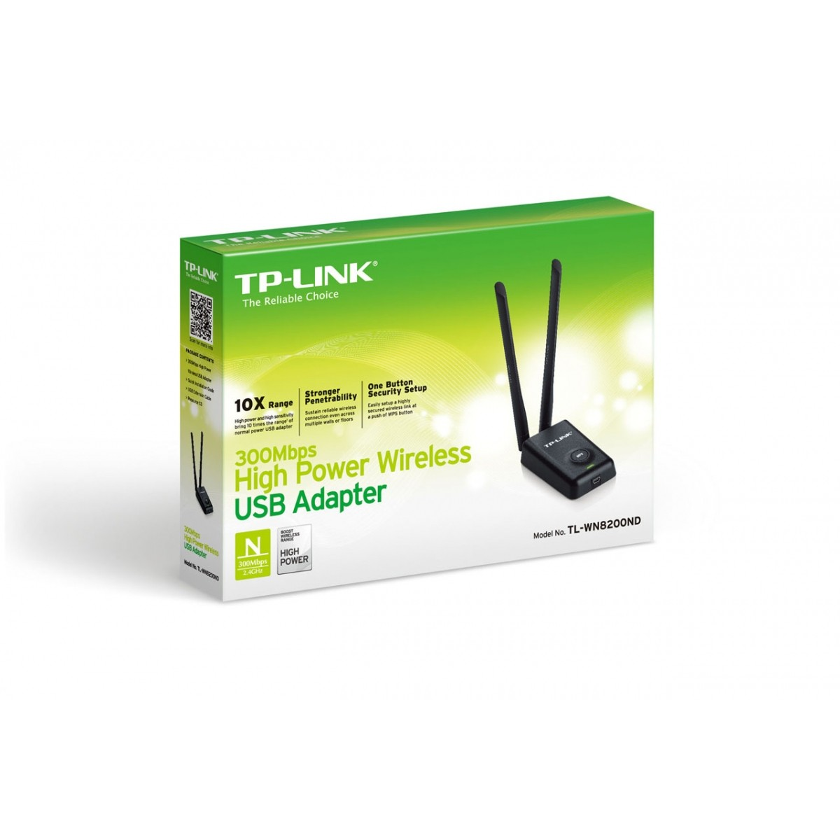 Adaptador Usb  Wireless 300mbps 5-dbi Tp-link Tl-wn8200nd