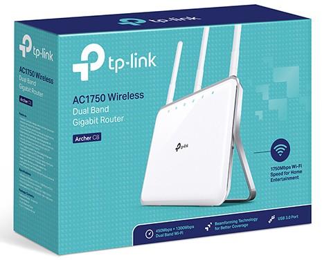 Novo Roteador Wireless Gb Ac1750 Dual-band Tp-link Archer C8