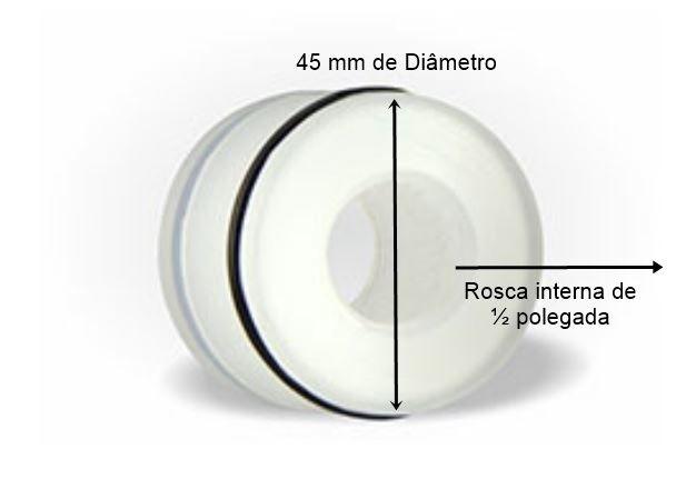 Adaptador Para Cano de 50mm Liso