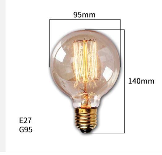 Lâmpada de Filamento de Carbono G95 Dimerizável