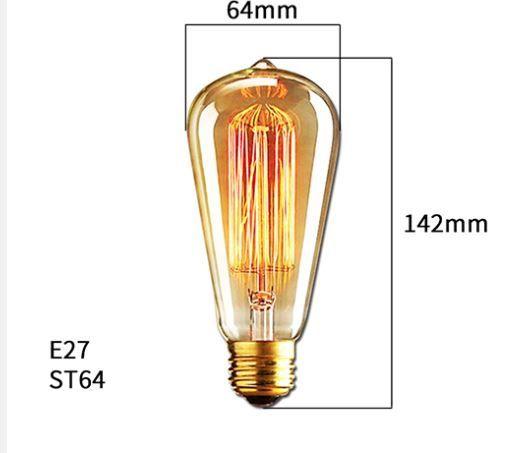 Lâmpada de Filamento de Carbono ST64 Dimerizável