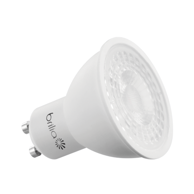 Lâmpada Dicroica LED GU10 5W Branco Quente Bivolt BRILIA
