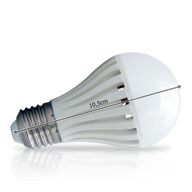 Lâmpada Led Bulbo 6W 24V  E27  Branco Frio ILUCTRON