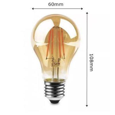Lâmpada Retrô Vintage Bulbo A60 Filamento de Led 4W Bivolt