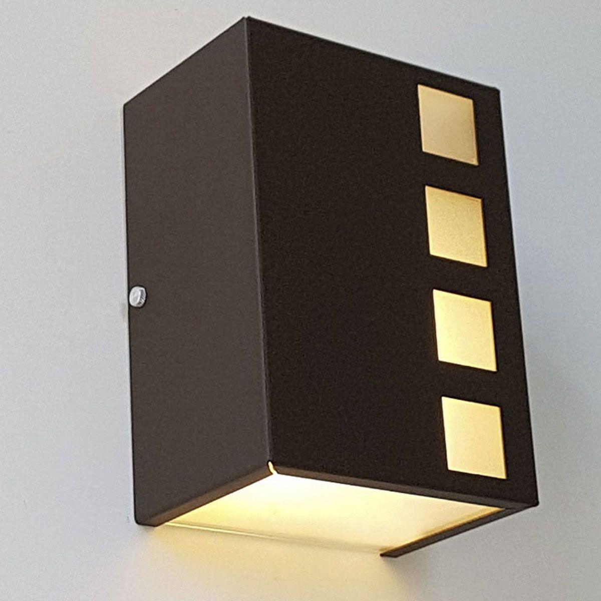 Luminária Arandela Decorativa Cubos Externa de Alumínio