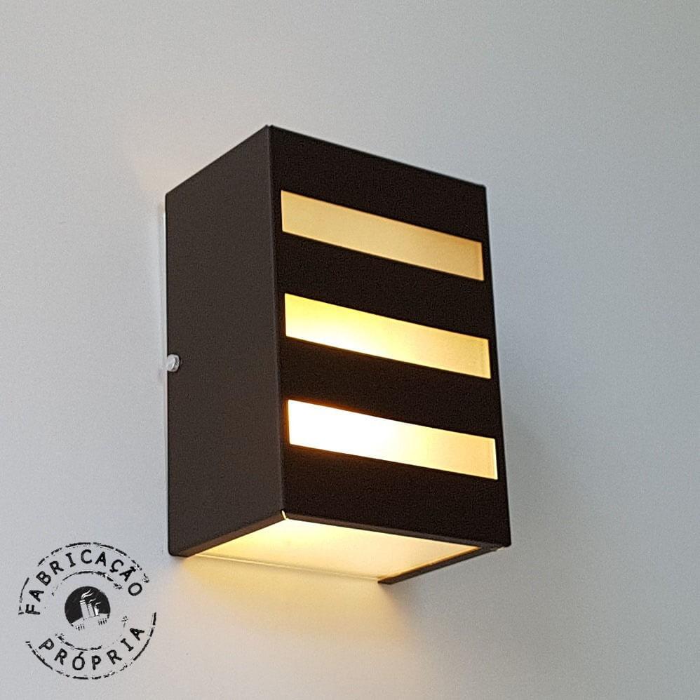 Luminaria Externa Parede Linha Interna Plafon Redondo Ou Quadrado