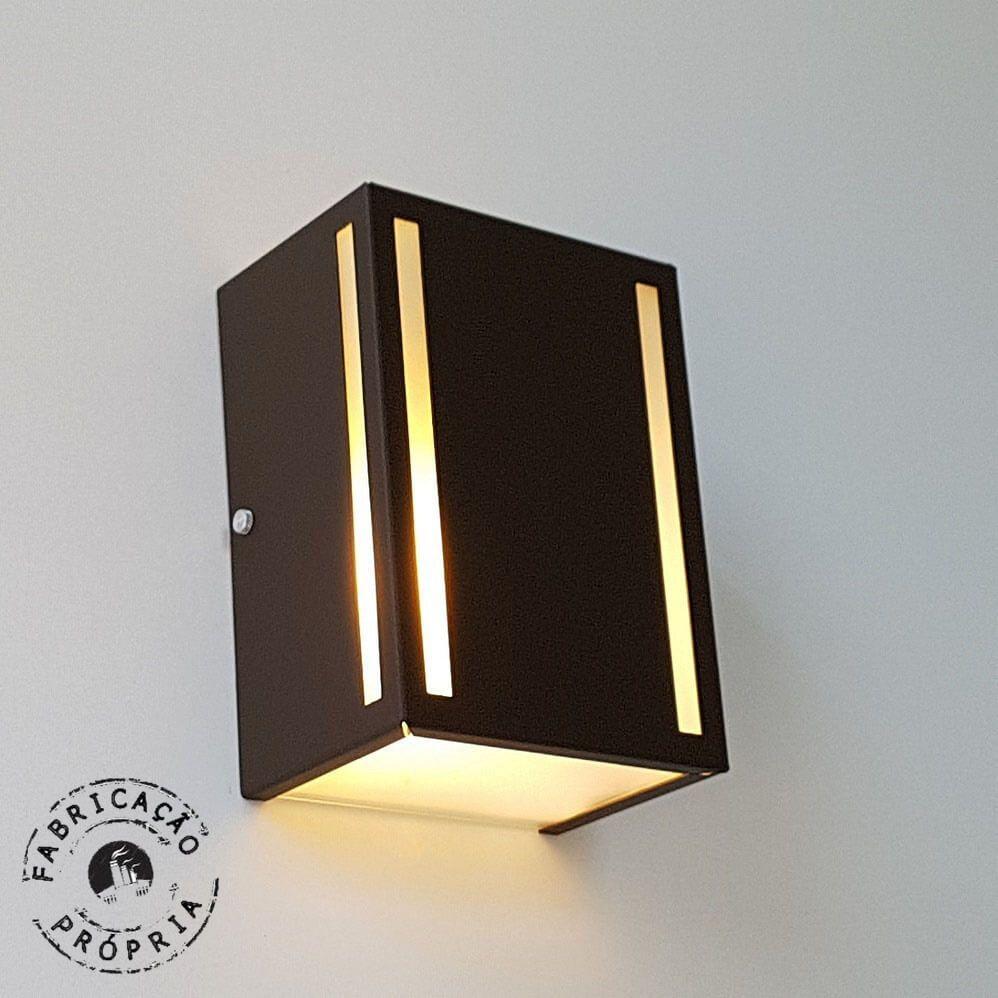 Luminária de Parede Interna Externa Frize de Alumínio