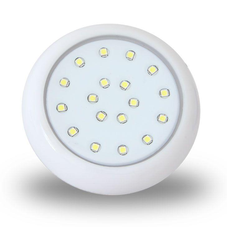 Luminária para Piscina Led RGB 18W 12V  Multicolor 8 cm