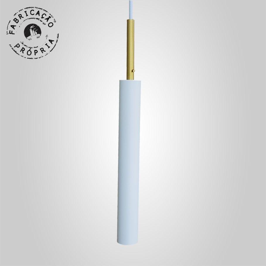 Pendente Tubeto Branco Detalhes GU10 4 x 29cm