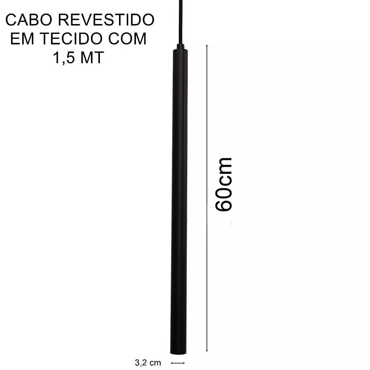 Pendente Tubeto Cores G9 3,2 x 60cm
