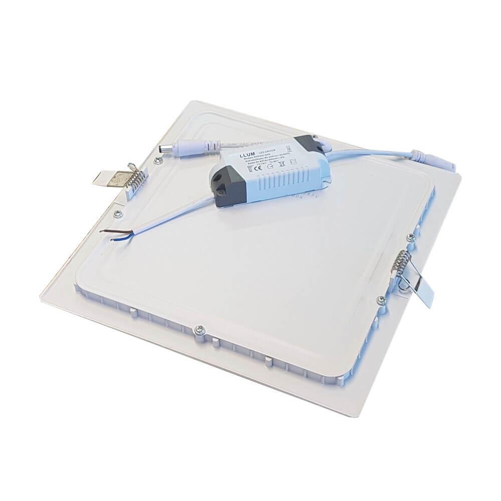 Plafon de Led Quadrado de Embutir 24W LLum