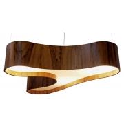 Pendente Ameba Single Em Madeira 20x110x75cm 5xE27 Bivolt Union Iluminação 212