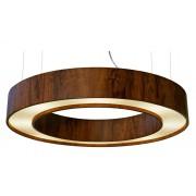 Pendente Anel Cilíndrico Em Madeira Ø70x12cm 7xG9 Bivolt Union Iluminação 157