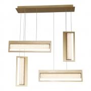 Pendente Glitter Dourado e Transparente 85x16x71cm Led 40W Bivolt Bella Iluminação HC009L