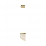 Pendente Onda Dourado e Transparente 22x7x14,8cm 1xLed 2,5W 3000k Bivolt Bella Iluminação OC008S