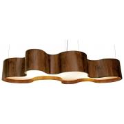 Pendente Organic Em Madeira 20x130x55cm 8xE27 Bivolt Union Iluminação 188