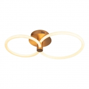 Plafon Circolo French Gold 69x39x15cm Led 32,4W Bivolt Bella Iluminação BB021