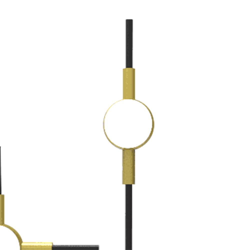 Abajur Link Preto Dourado e Branco 27x12x43cm 3xLed 18w 3000k Bivolt Bella Iluminação FT003