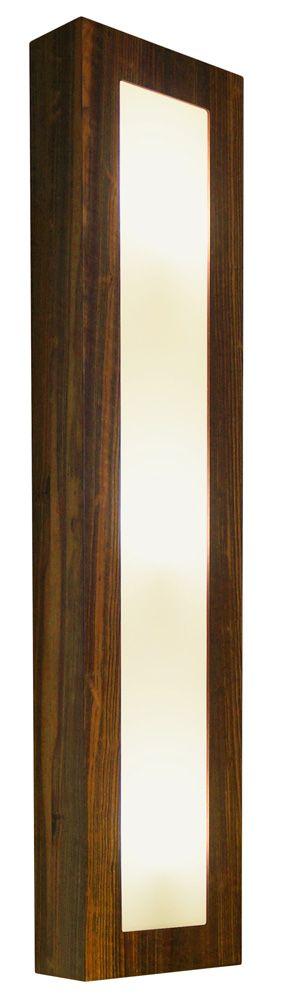 Arandela Aberto Estreito Longa Em Madeira 90x20x8,5cm 3xE27 Bivolt Union Iluminação 021