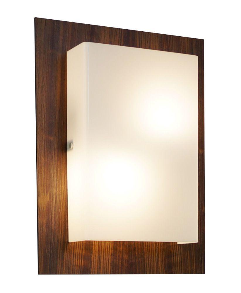 Arandela Clean Em Madeira 40x30x8,5cm 2xE27 Bivolt Union Iluminação 024