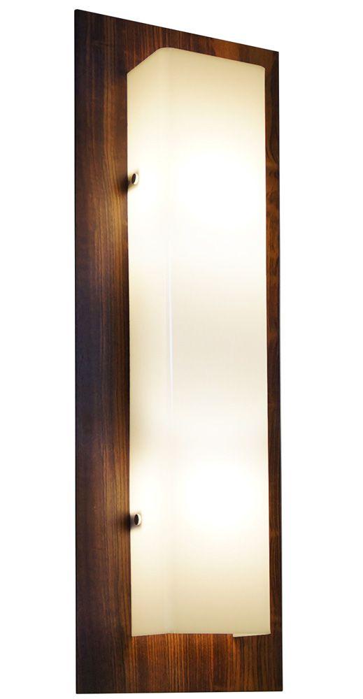 Arandela Clean Longa Em Madeira 60x20x8,5cm 2xE27 Bivolt Union Iluminação 023