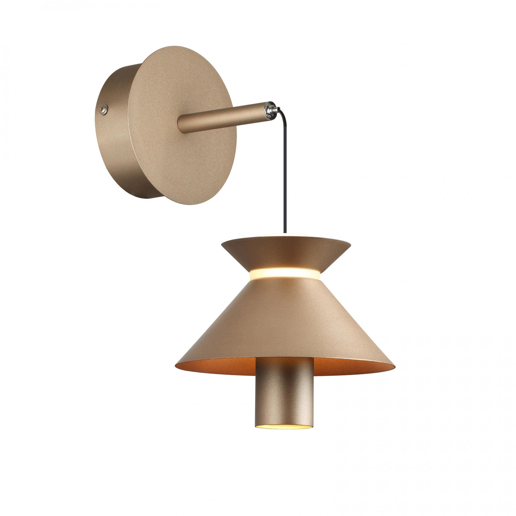 Arandela Cordel Pale Gold 22x15x13cm Led 6W Bilvolt Bella Iluminação CD009