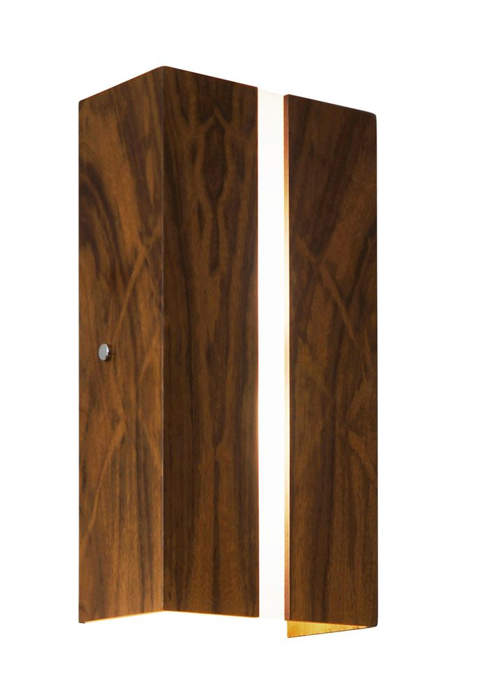 Arandela Filete Em Madeira 30x15x8,5cm 2xE27 Bivolt Union Iluminação 006