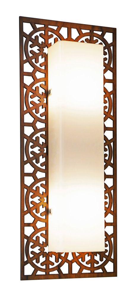Arandela Floco De Neve Clean Longa Em Madeira 86x22x8,5cm 3xE27 Bivolt Union Iluminação 180