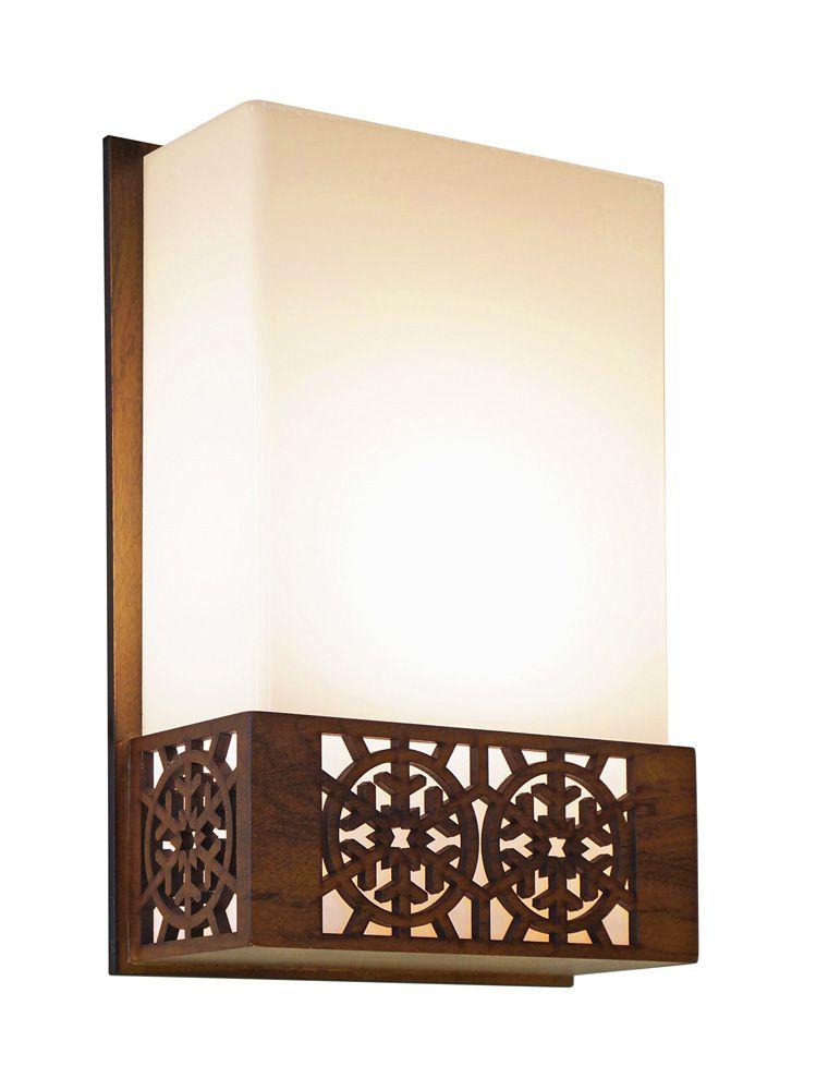 Arandela Floco De Neve In Box Em Madeira 30x20x9,5cm 1xE27 Bivolt Union Iluminação 051