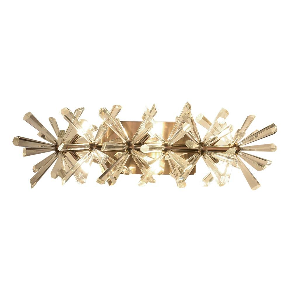 Arandela Flora Dourado e Transparente 53x23x18cm 6xG4 18W Bivolt Bella Iluminação DY002