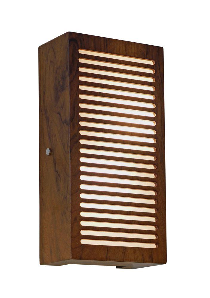 Arandela Frisos Em Madeira 30x15x8,5cm 2xE27 Bivolt Union Iluminação 019