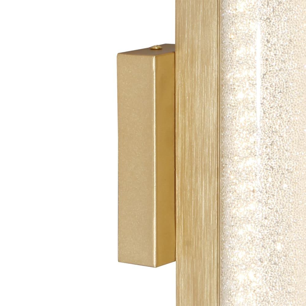 Arandela Glitter Dourado e Transparente 35x12x17,5cm Led 8W Bivolt Bella Iluminação HC008