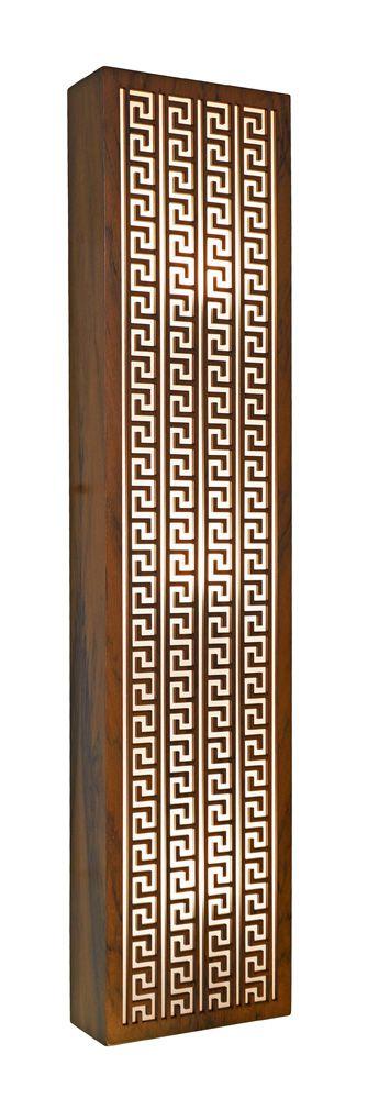 Arandela Gregas Longa Em Madeira 90x20x8,5cm 3xE27 Bivolt Union Iluminação 064