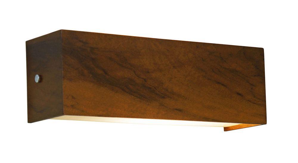Arandela Horizontal Em Madeira 10x44x8,5cm 2xE27 Bivolt Union Iluminação 154