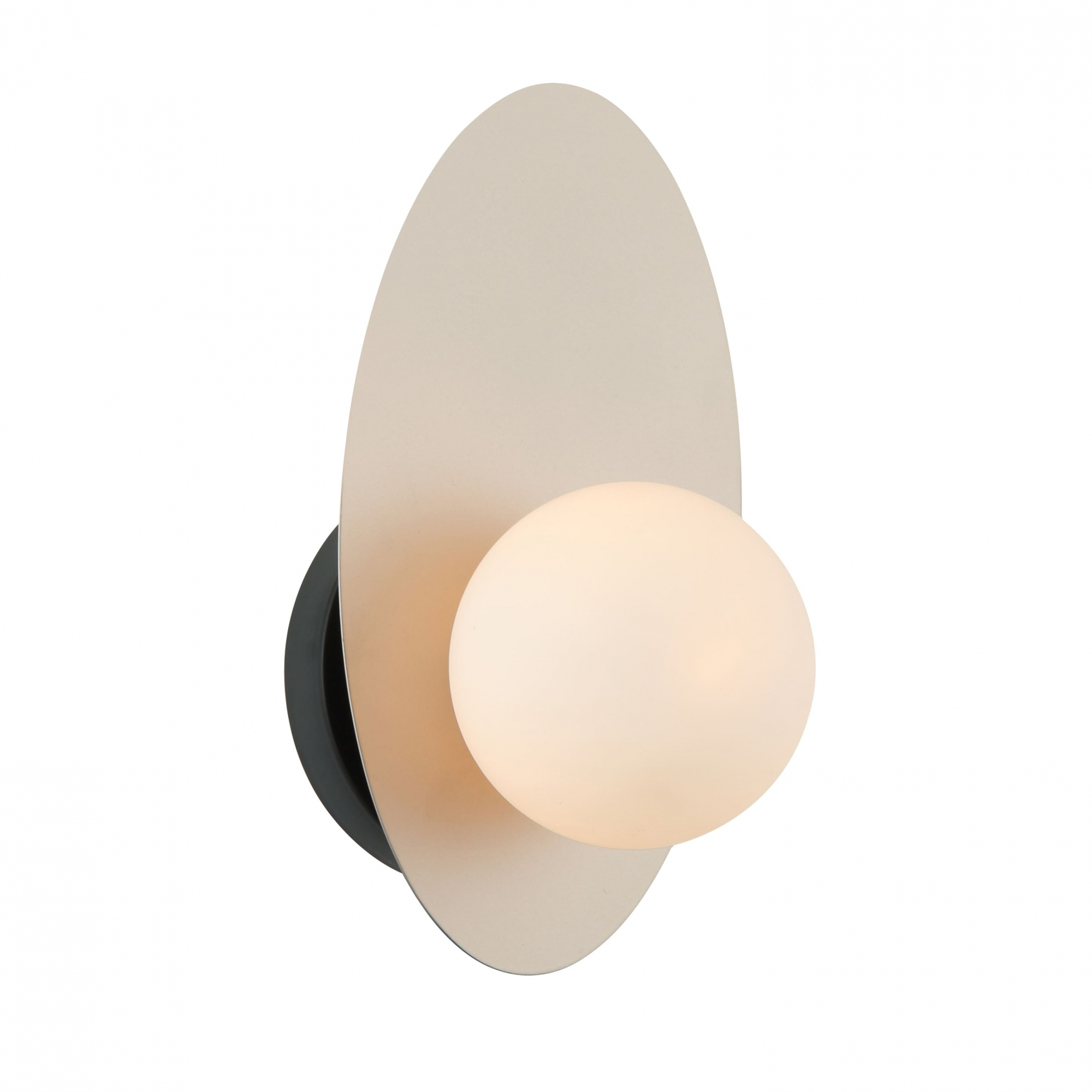 Arandela Ibira Nude Preto e Branco 14x13x25cm 1xG9 25W Bivolt Bella Iluminação HL015