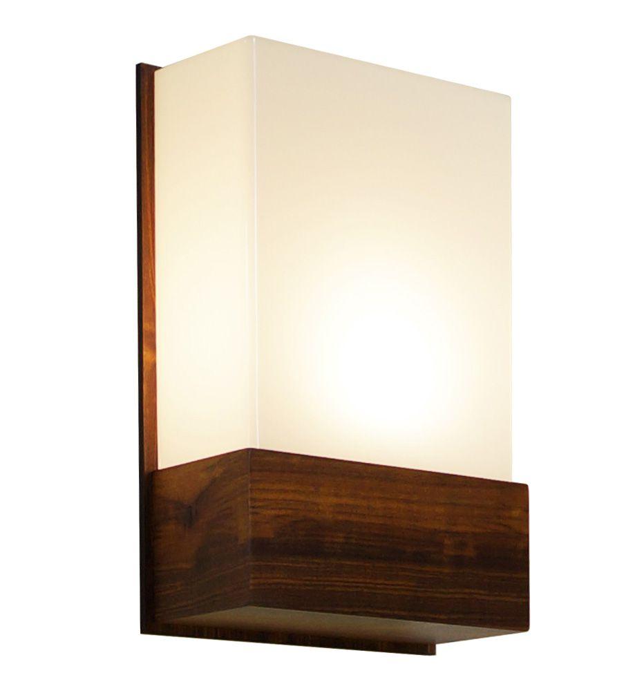 Arandela In Box Em Madeira 30x20x9,5cm 1xE27 Bivolt Union Iluminação 015