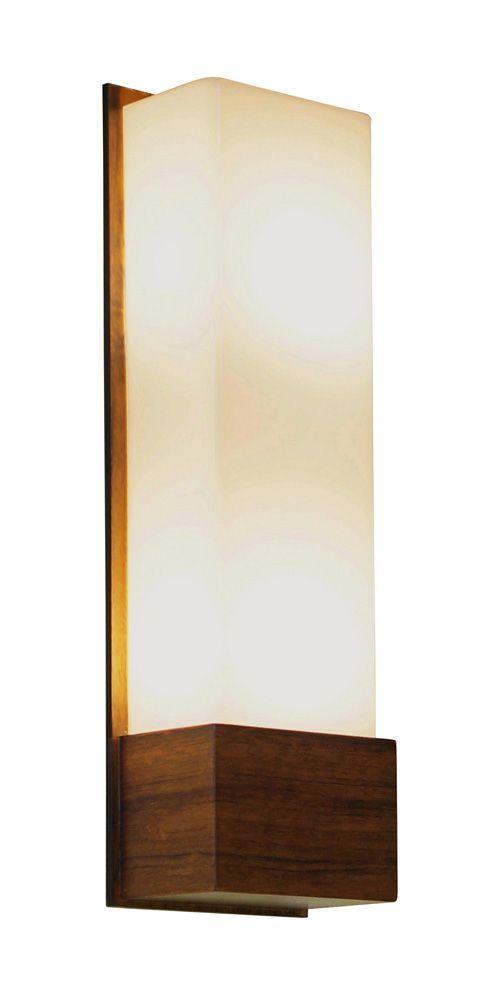 Arandela In Box Estreito Longa Em Madeira 42x13x9,5cm 2xE27 Bivolt Union Iluminação 068