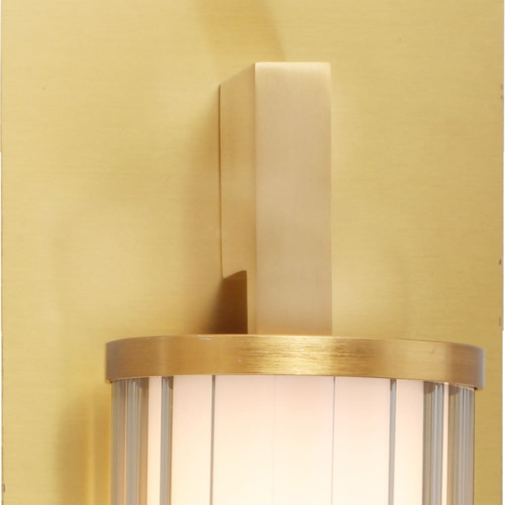 Arandela Lampe Bronze e Transparente 38x10,5x11,5cm Led 8W Bivolt Bella Iluminação HC003